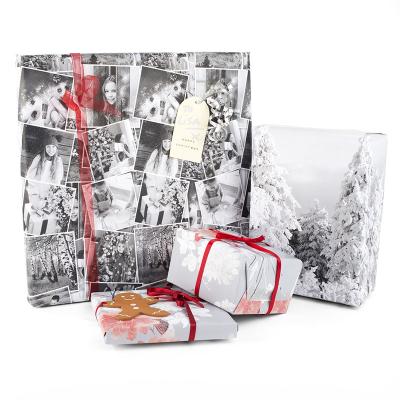 papel de regalo con fotos impresas
