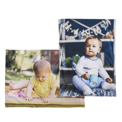 babydecke bedruckt mit eigenen fotos für kinderwagen