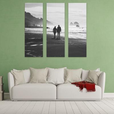dreiteilige leinwand mit schwarz weiß foto selbst machen