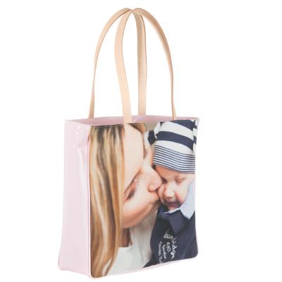 shopper bedruckt mit foto von mutter und baby