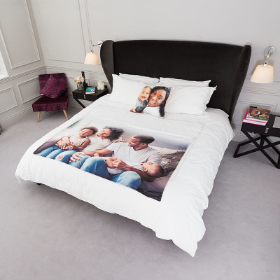 personalise bedspread printed with photos