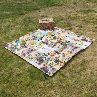 campingdecke bedruckt mit foto collage selbst machen