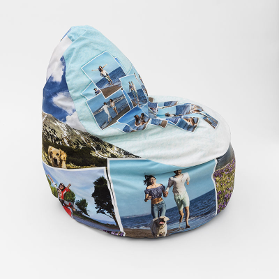 custom pouf with photo montage