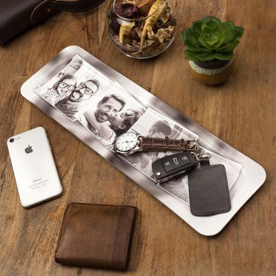 tablett mit fotocollage bedrucken lassen schwarz weiß