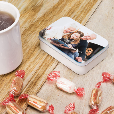 personalised tobacco tin with your favourite photos