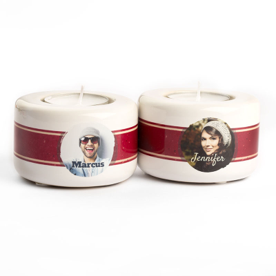 Porta candele personalizzato