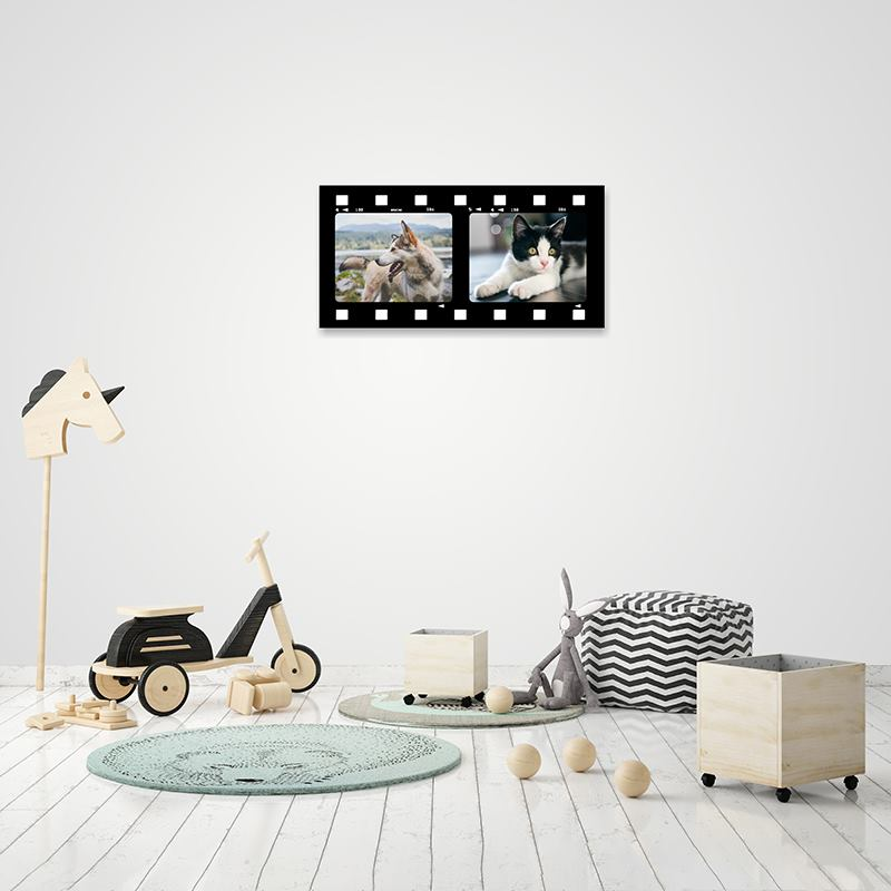 Film Strip Photo Frame: Personalised Movie Canvas Prints