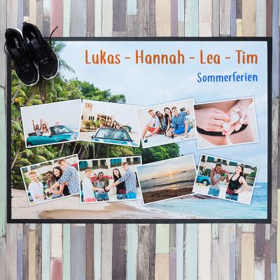 Foto fußmatte selbst gestalten mit namen