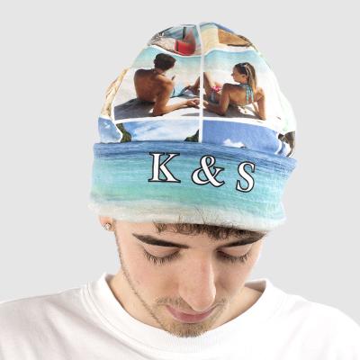 mütze mit fotocollage bedruckt für erwachsene