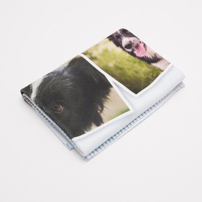 handgemaakte foto huisdieren deken