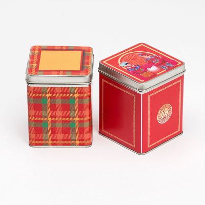 teedosen bedruckt mit zwei verschiedenen designs