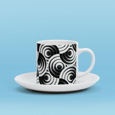 tasse bedruckt mit eigenem design und untertasse
