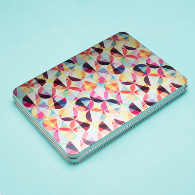 tin box with pattern