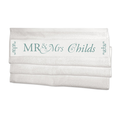 personalized name towels