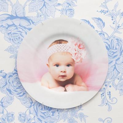 plato decorativo con fotos para madres