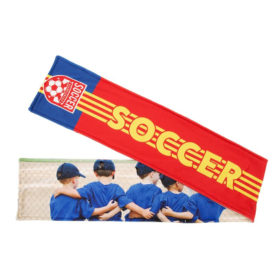 personalized soccer scarf