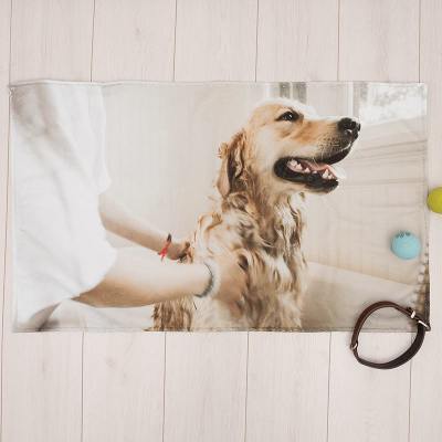 personalized dog towels printed with your designs