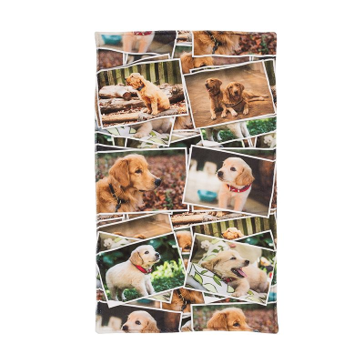 personalised pet towel printed with your designs