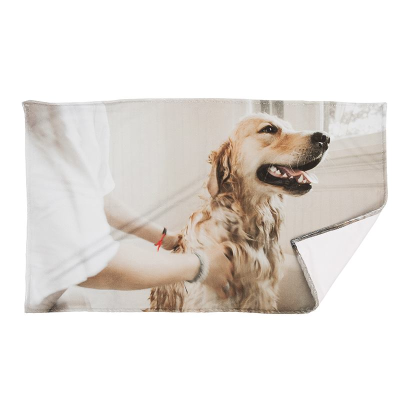 personalised dog towel made of microfibre for pets