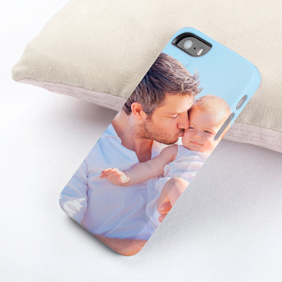 iphone 5 hülle bedruckt mit foto vater baby