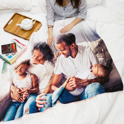 personalised birthday blanket