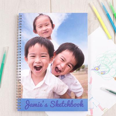 personalised photo sketchbook
