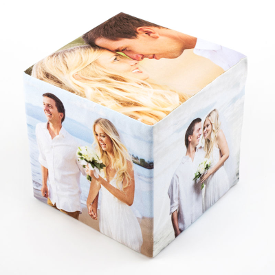 collage cubes with wedding pictures