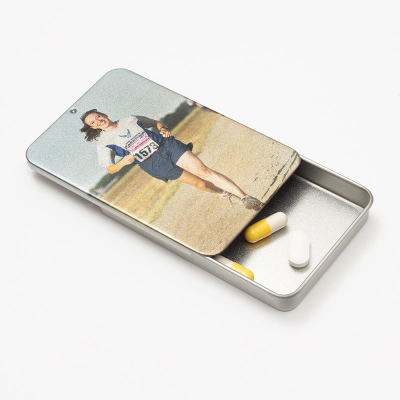 personalized tin box for pills