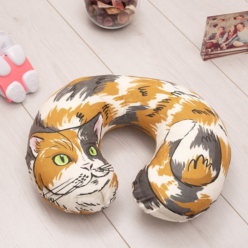 custom printed travel neck pillow