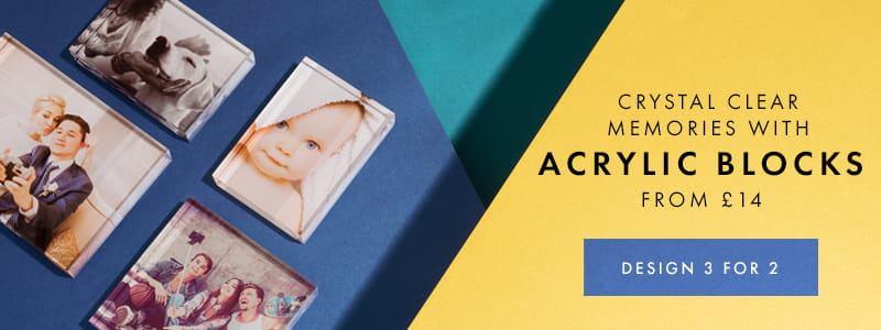 acrylic photo block gifts