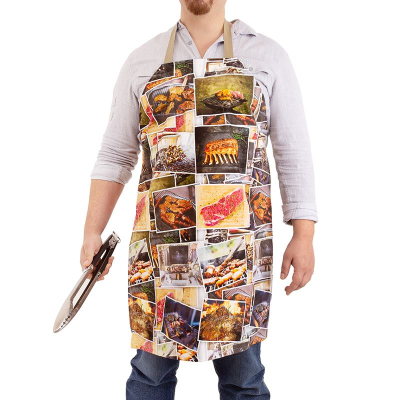 grillschürze bedrucken lassen mit foto von essen