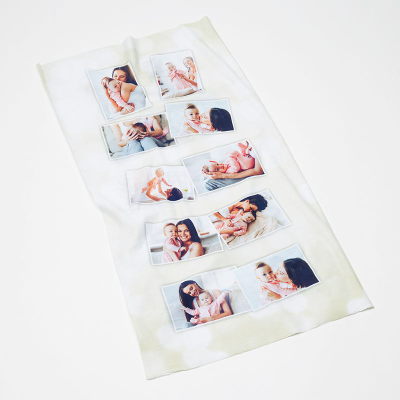 collage scarf with family pictures