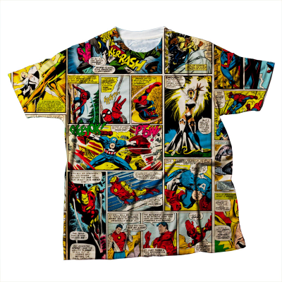 collage t shirt comic style