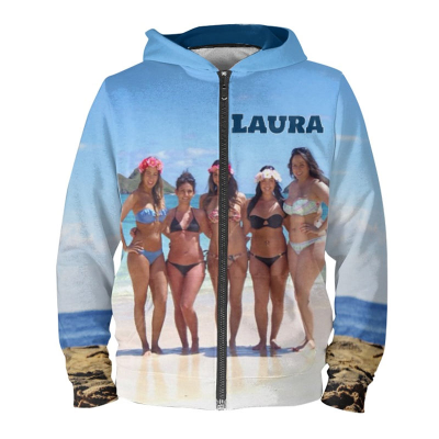 personalised collage hoodie
