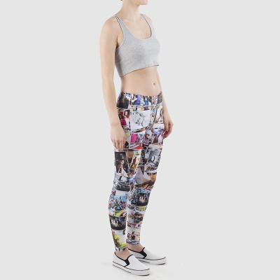 personalized collage leggings