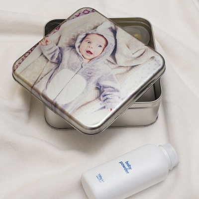 christening keepsake tin