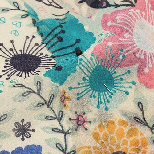 Silk Georgette Curtain Fabric  UK