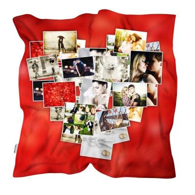 mantas personalizadas collage corazón