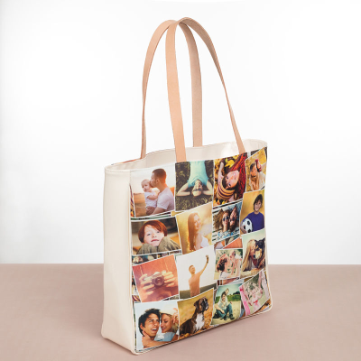 Sac de shopping avec montage photo
