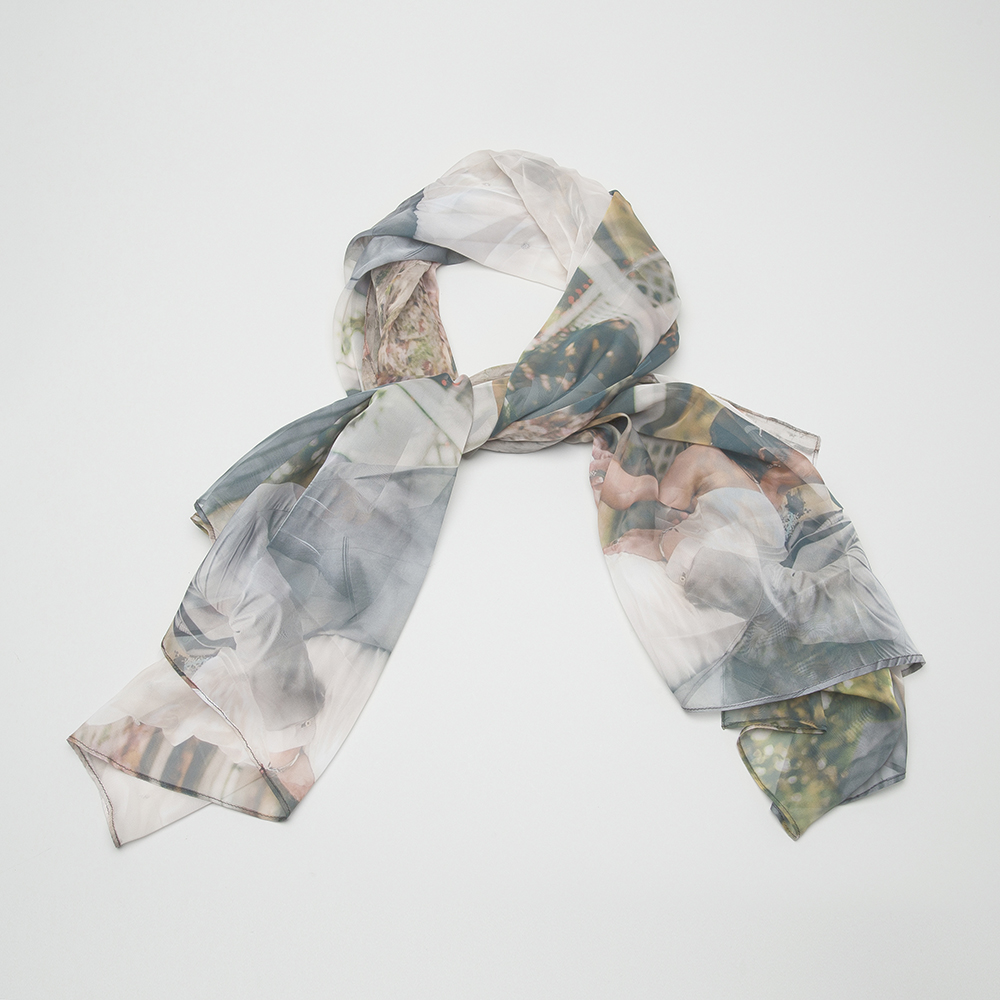 custom mens silk scarf