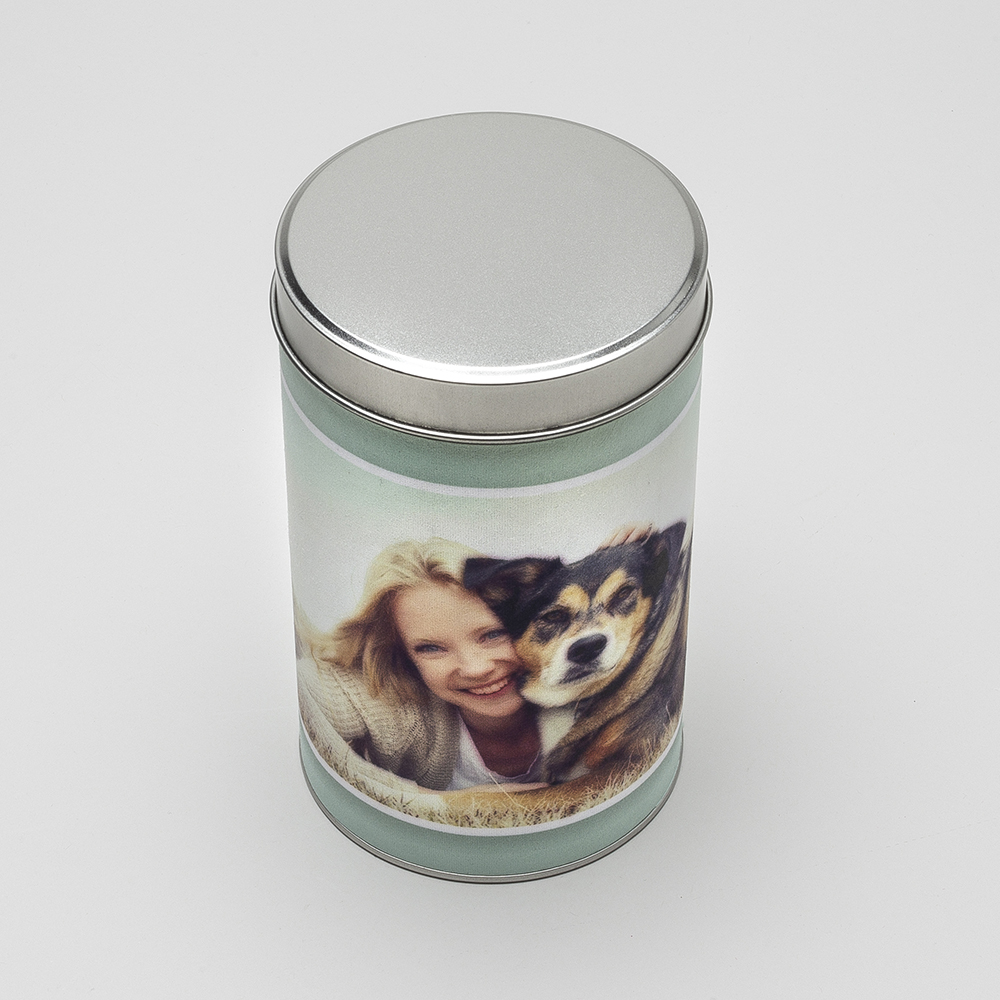 personalized treat tin