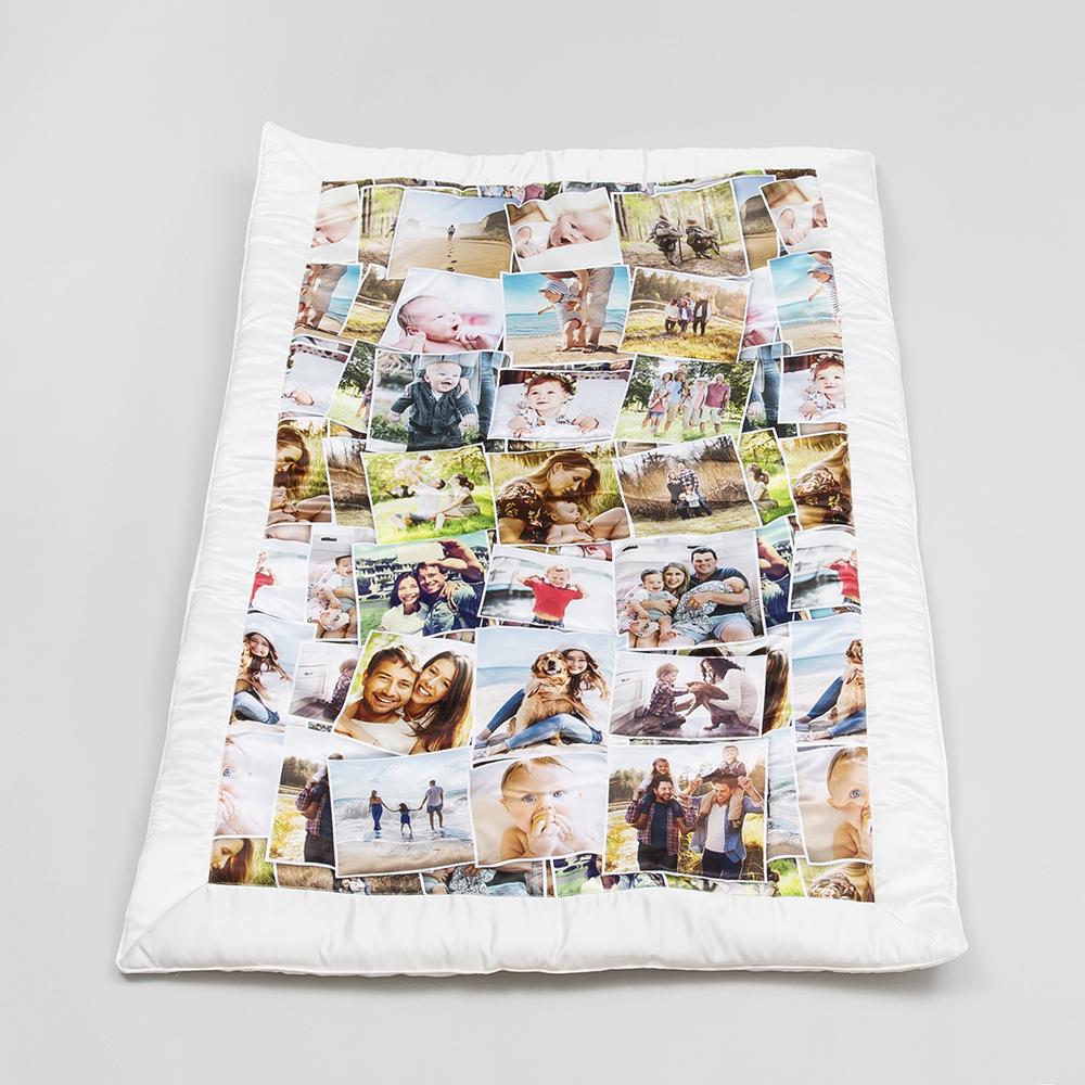 patchworkdecke mit fotos