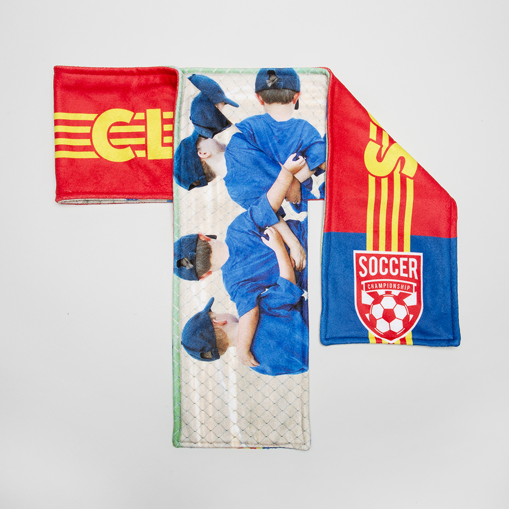 personalised sports scarf