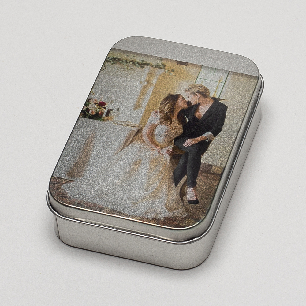 Print Your Photo Silver Tin