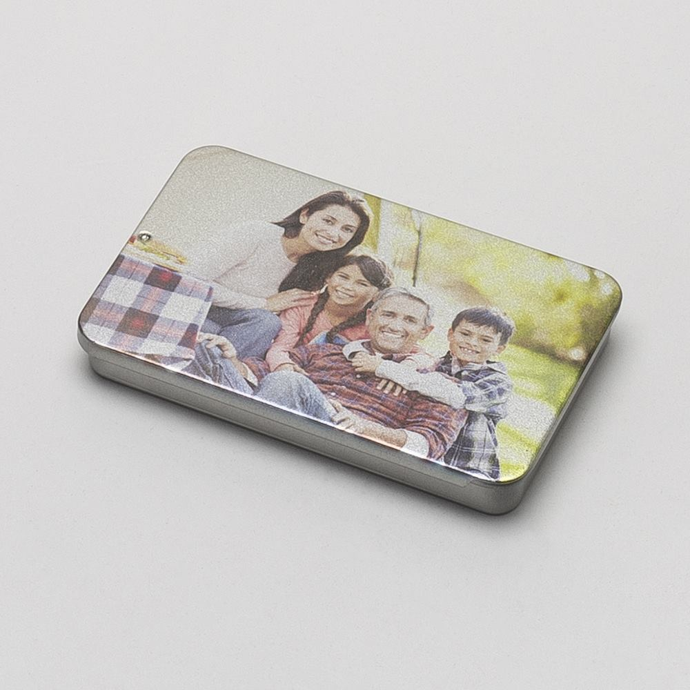personalized business card tin