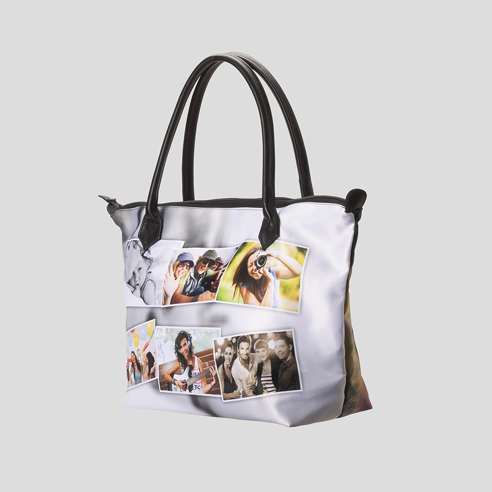 Zip Top handväska med foto