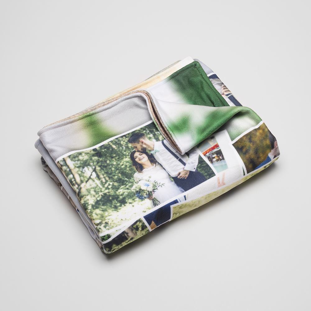 wedding blanket personalized with photos