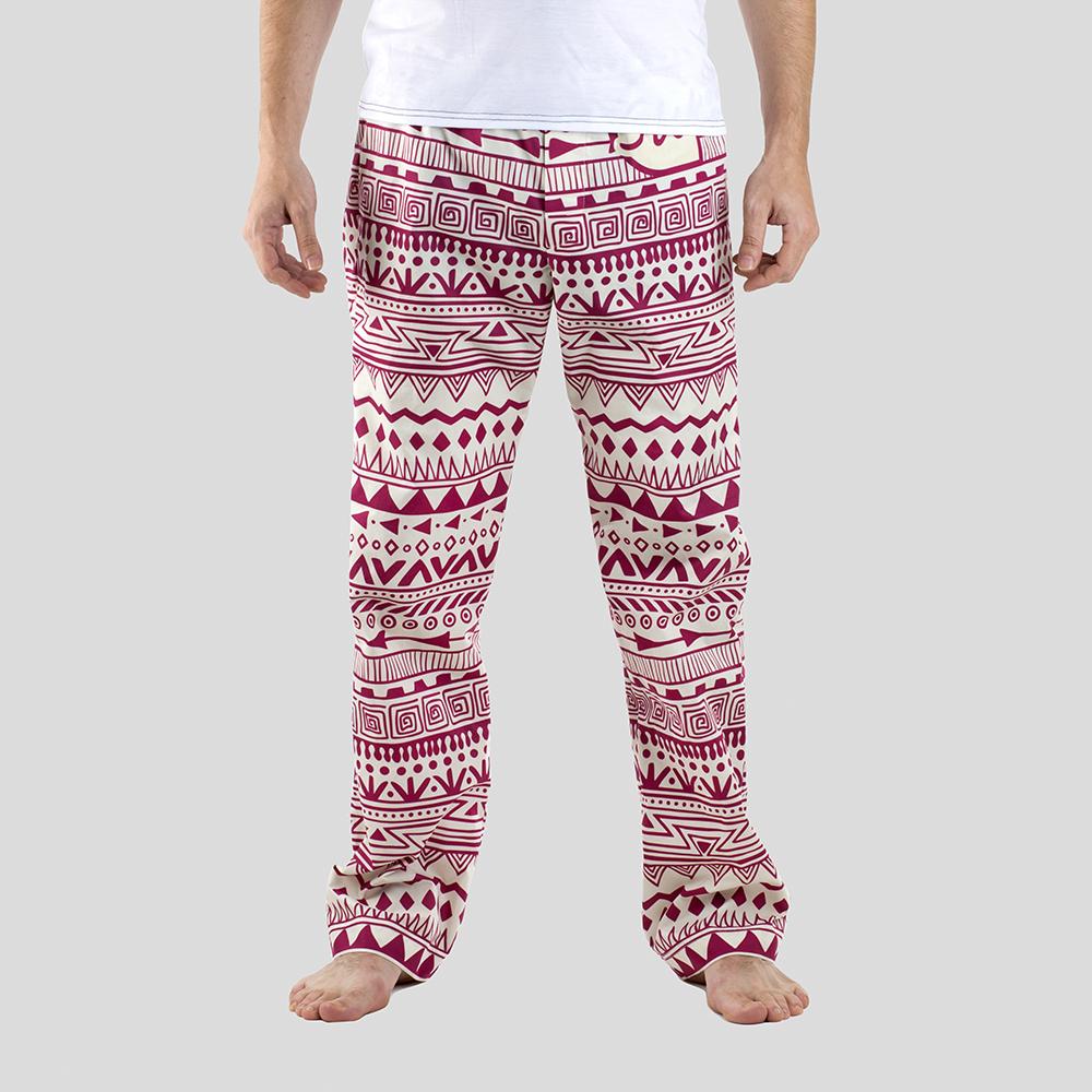 pyjamasbyxor för herrar med eget tryck