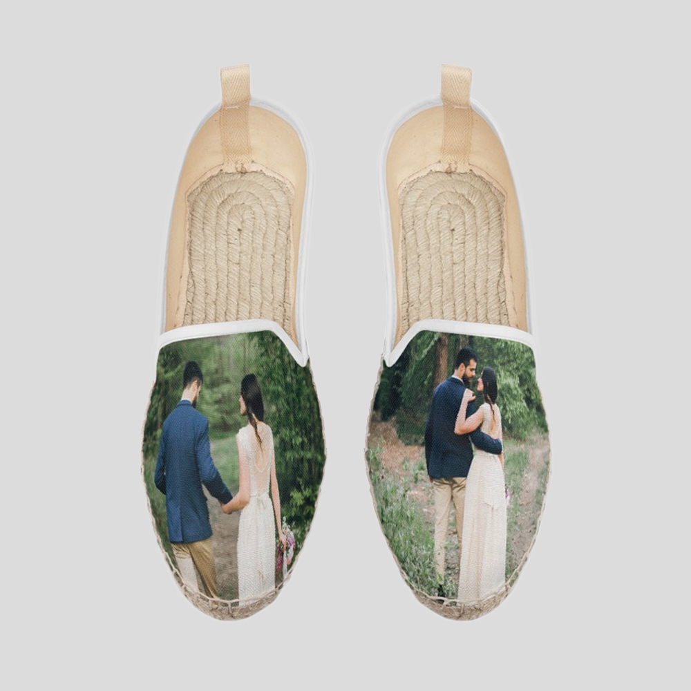 personalised espadrille loafers