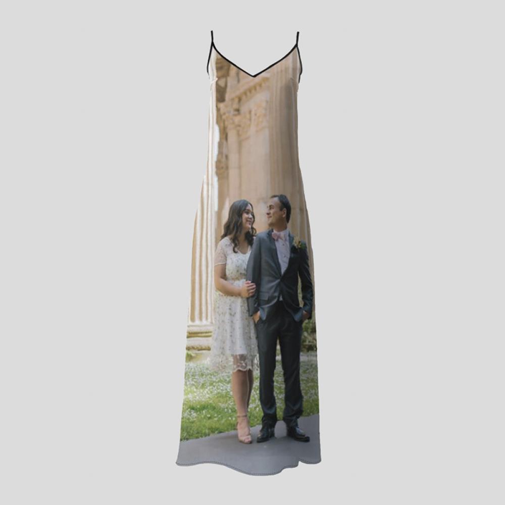 personalized slip dress